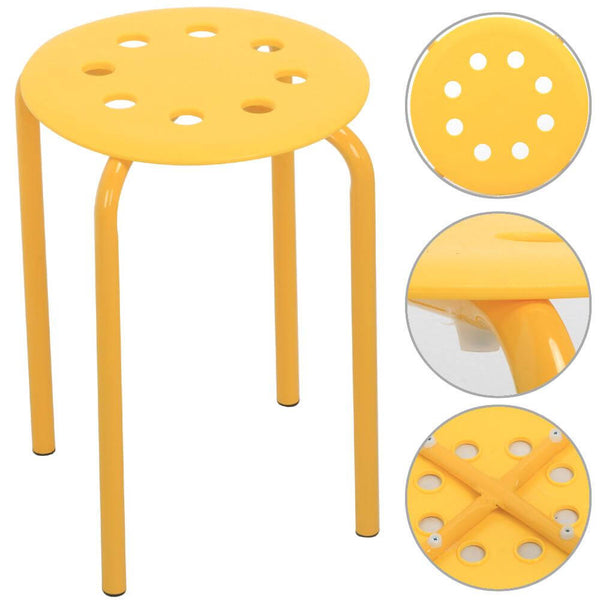 Plastic Stackable Stools Set of 5-Costoffs