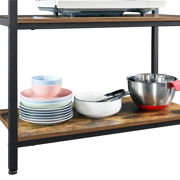 4 Tier Microwave Oven Stand Organizer Storage Shelves-Costoffs