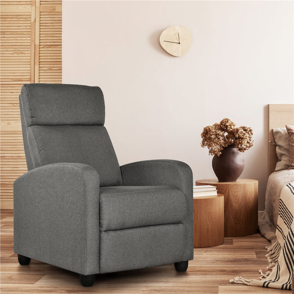 Adjustable Fabric Recliner Chair Upholstered Sofa-Costoffs