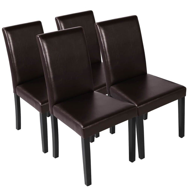 Dining Chairs Brown 4pcs