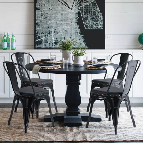4pcs Dining Chairs Black-Costoffs