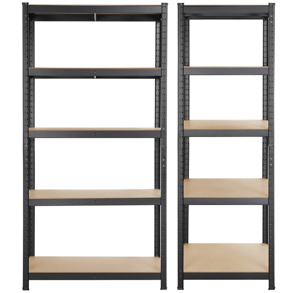 5 Tiers Adjustable Metal Storage Shelving Display Rack-Costoffs