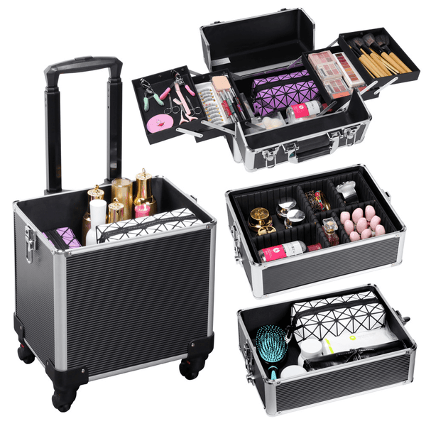 4-in-1 Rolling Cosmetic Cases-Costoffs