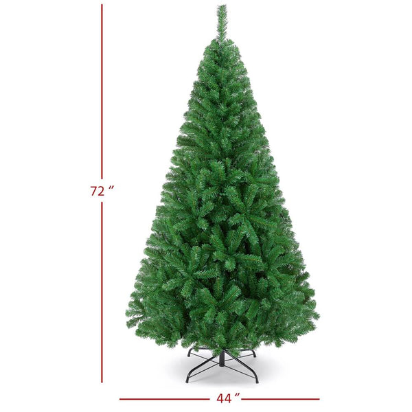 6/7.5Ft Artificial Christmas Tree Green-Costoffs
