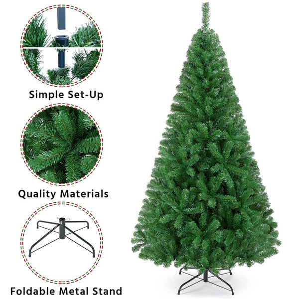 7.5' Artificial Christmas Tree Green-Costoffs