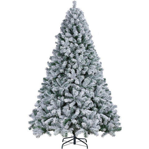 6/7.5Ft Frosted Artificial Christmas Tree-Costoffs