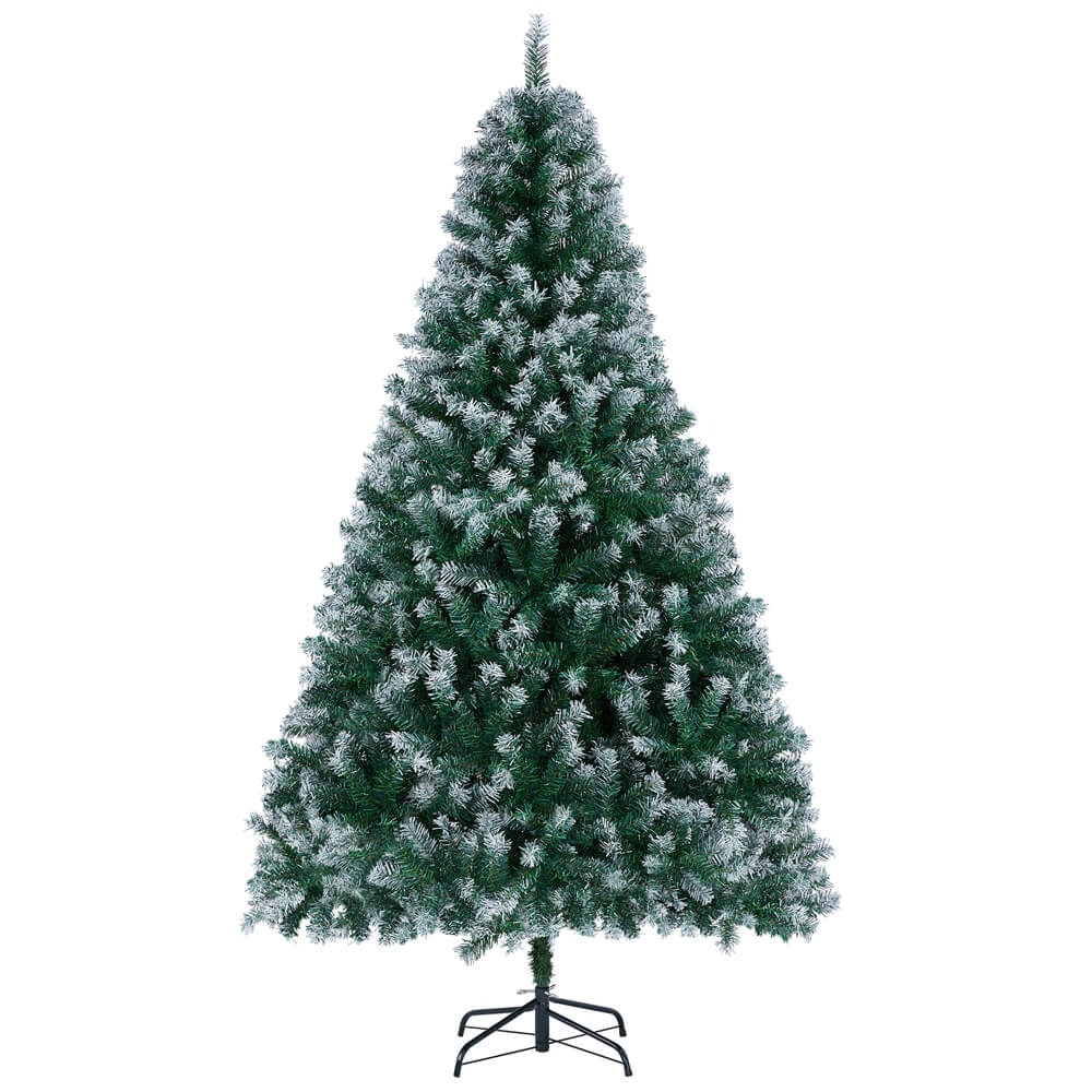6/7.5Ft Frosted Christmas Tree Green-Costoffs