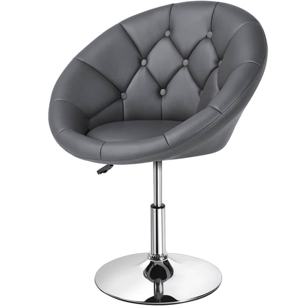 Swivel Tufted Barrel Chair-Costoffs
