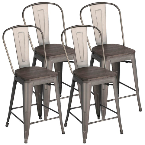 Metal Dining Chairs-Costoffs