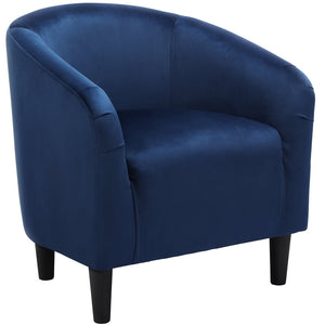 Velvet Club Chair Navy Blue-Costoffs