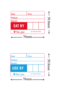 Removable Food Tracking Labels QAR Supplies