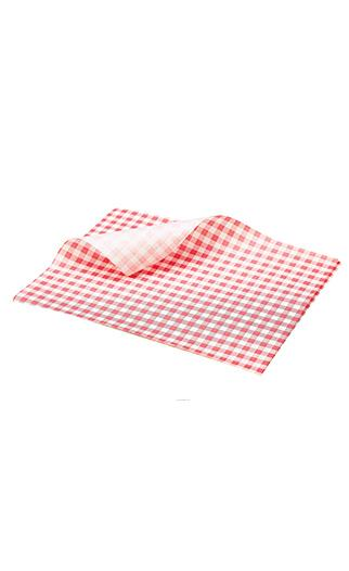 Red Gingham Greaseproof Paper QAR Supplies