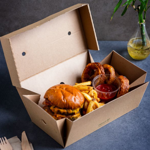 Vegware Premium Burger Meal Box