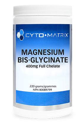 Magnesium Bis-Glycinate 400mg Full Chelate (220 grams)