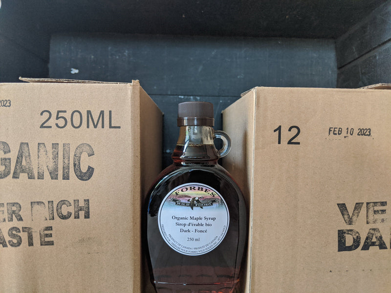 Organic Dark Maple Syrup Case of 12 250 ml