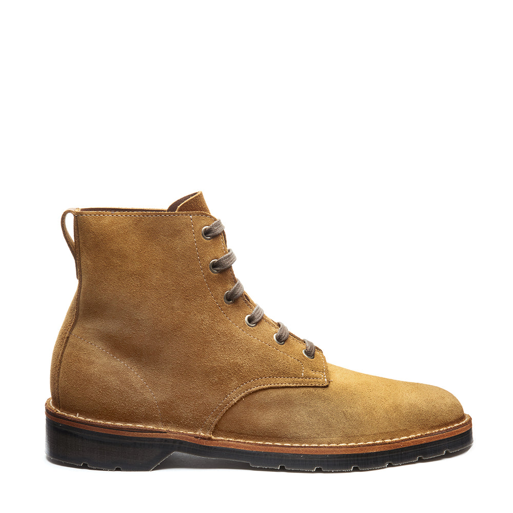 Tan Suede 6 Eye Derby Boot