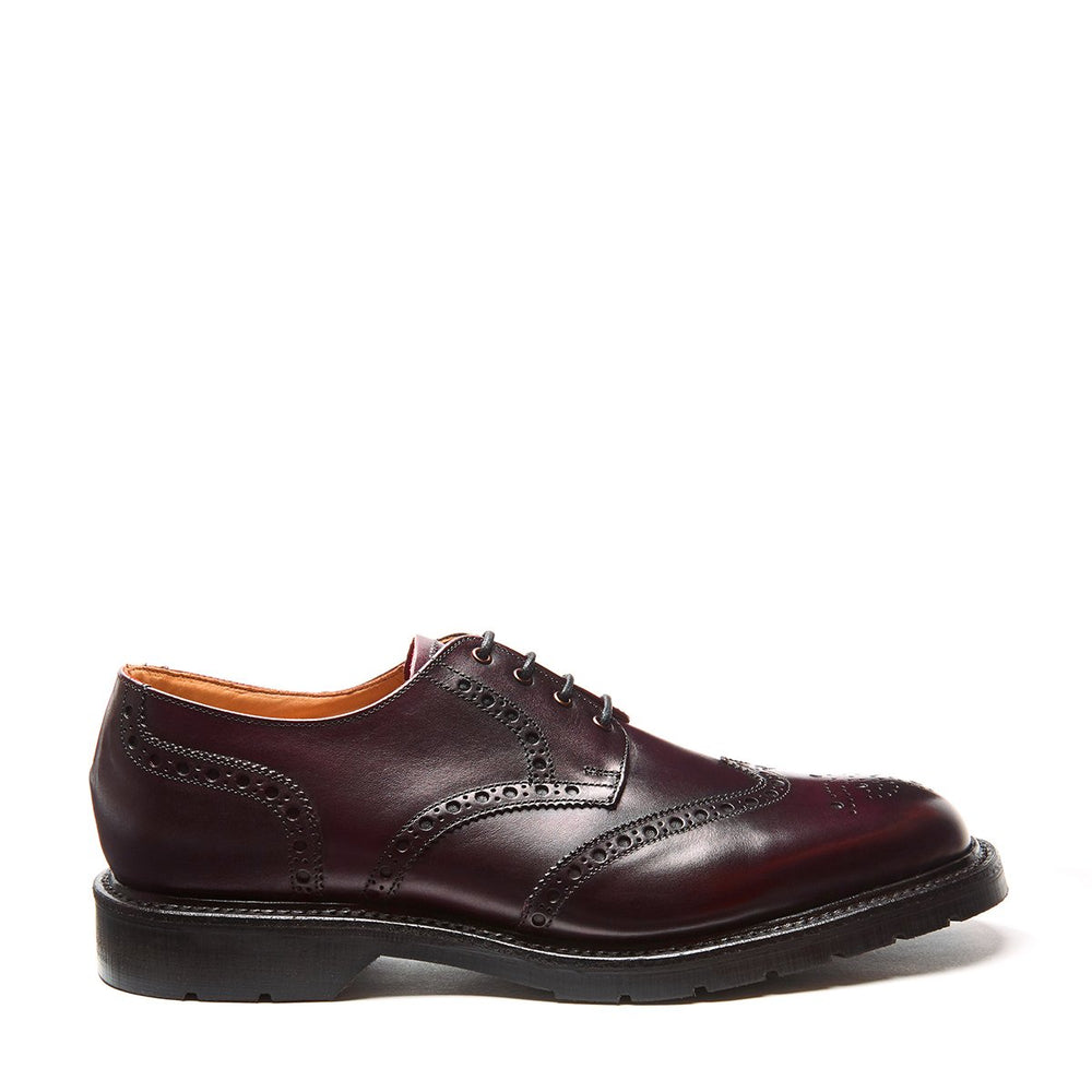 Burgundy 4 Eye Gibson Brogue Shoe
