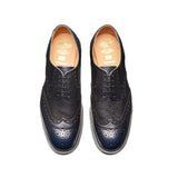 Navy Grain 5 Eye Gibson Brogue Shoe