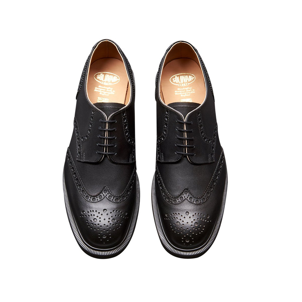 Black 5 Eye Gibson Brogue Shoe