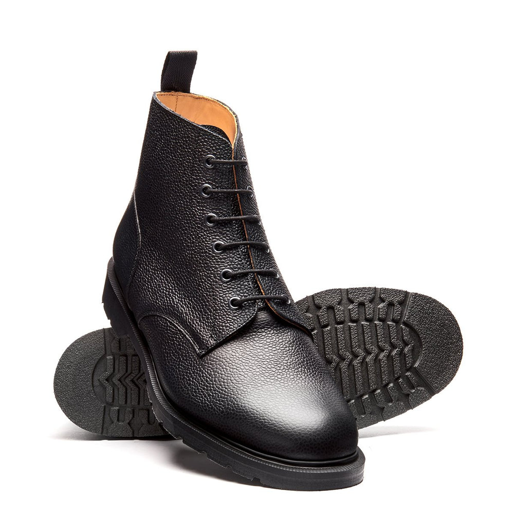 Black Grain 6 Eye Derby Boot