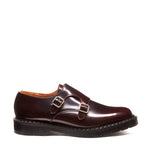 Burgundy Rub-Off Double Buckle Monk Shoe