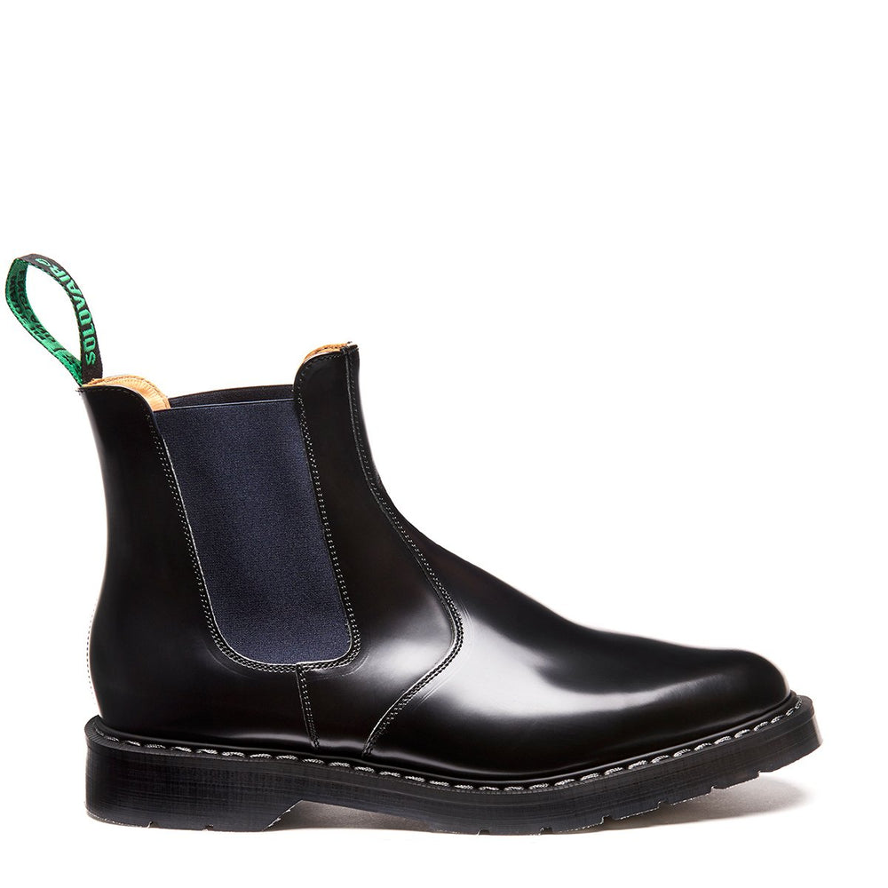 Navy Blue & Black Dealer Boot