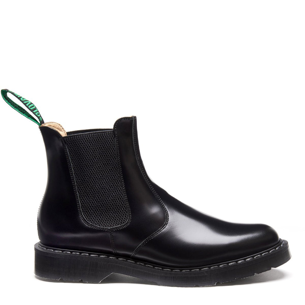 Black Hi-Shine Dealer Boot