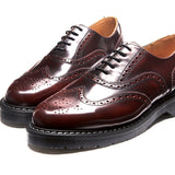 Burgundy Rub-Off English Brogue Shoe