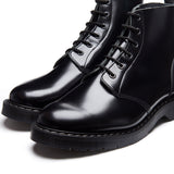 Black Hi-Shine 6 Eye Astronaut Boot
