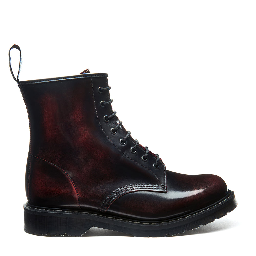 Galaxy Bordeaux Rub off 8 Eye Derby Boot