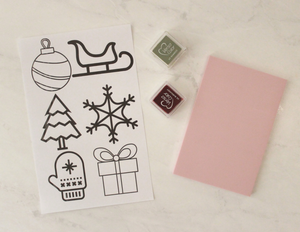 Christmas stamping set (carving kit add-on)