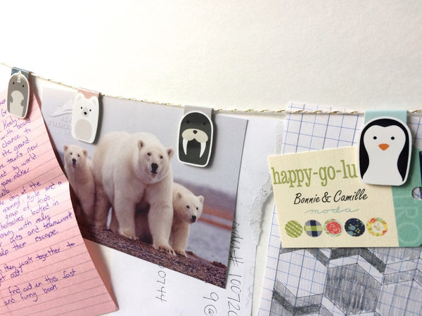 Arctic Animals Magnetic Bookmarks Set of 4