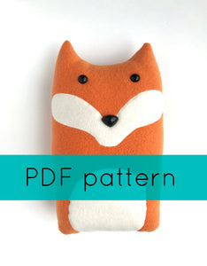 Fox Pillow Sewing Pattern