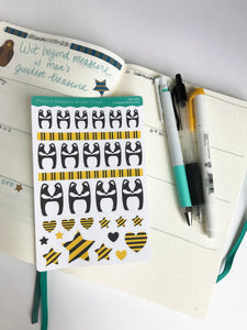 Cute Badger Stickers - Magical Friends Collection - Badger Planner Stickers - HH003