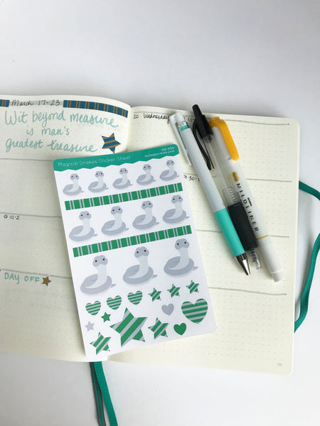 Snake Planner Stickers - Magical Friends Collection - HH006