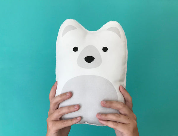 Polar Bear Pillow 10""
