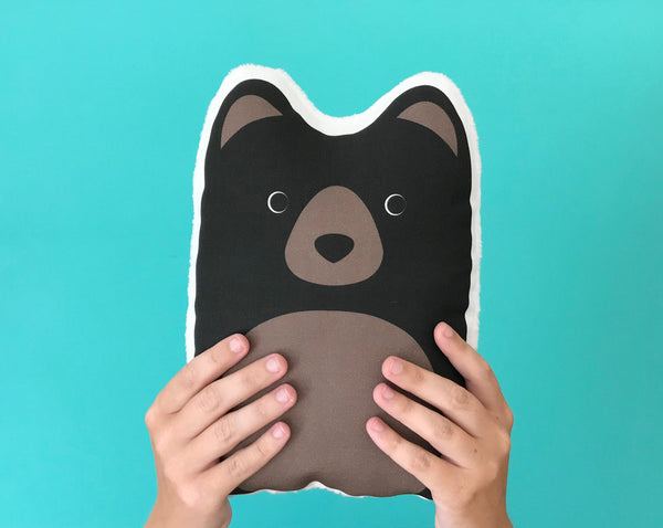 Black Bear Pillow 10""