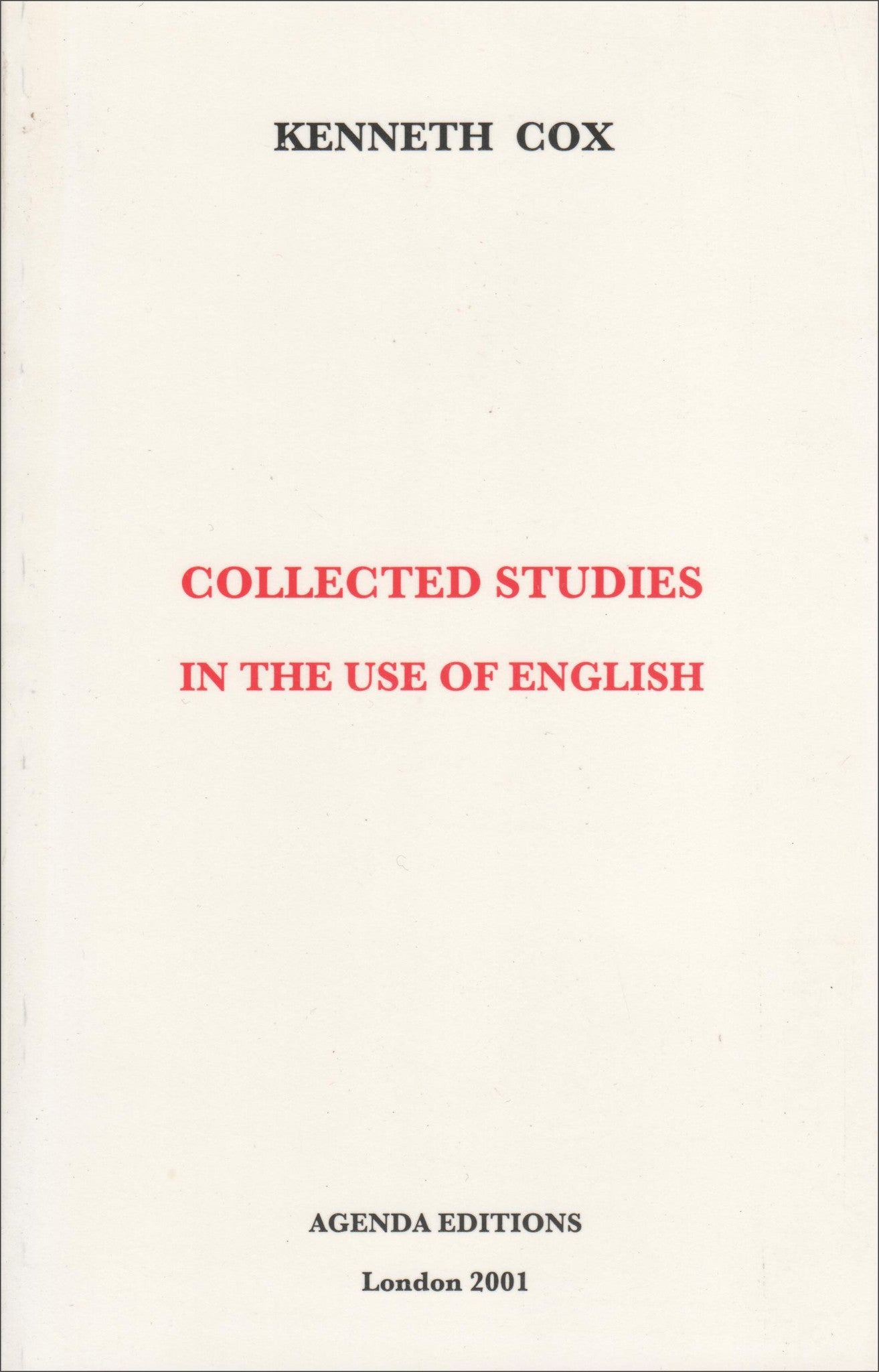 Collected Studies in the Use of English