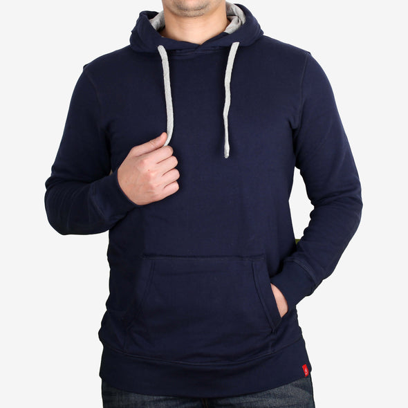 Classic Cotton Hoodie with Raw Edge Pocket