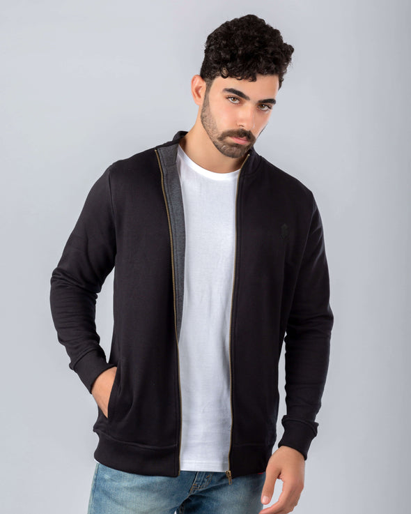 Full Zip Heavy Melton Sweater