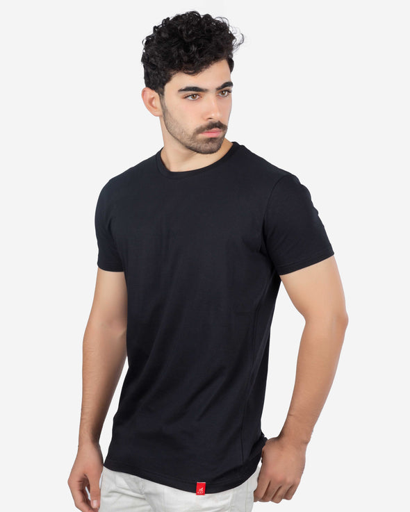 Basic Cotton Crew Neck T-Shirt