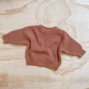 Knit Jumper - Terracotta