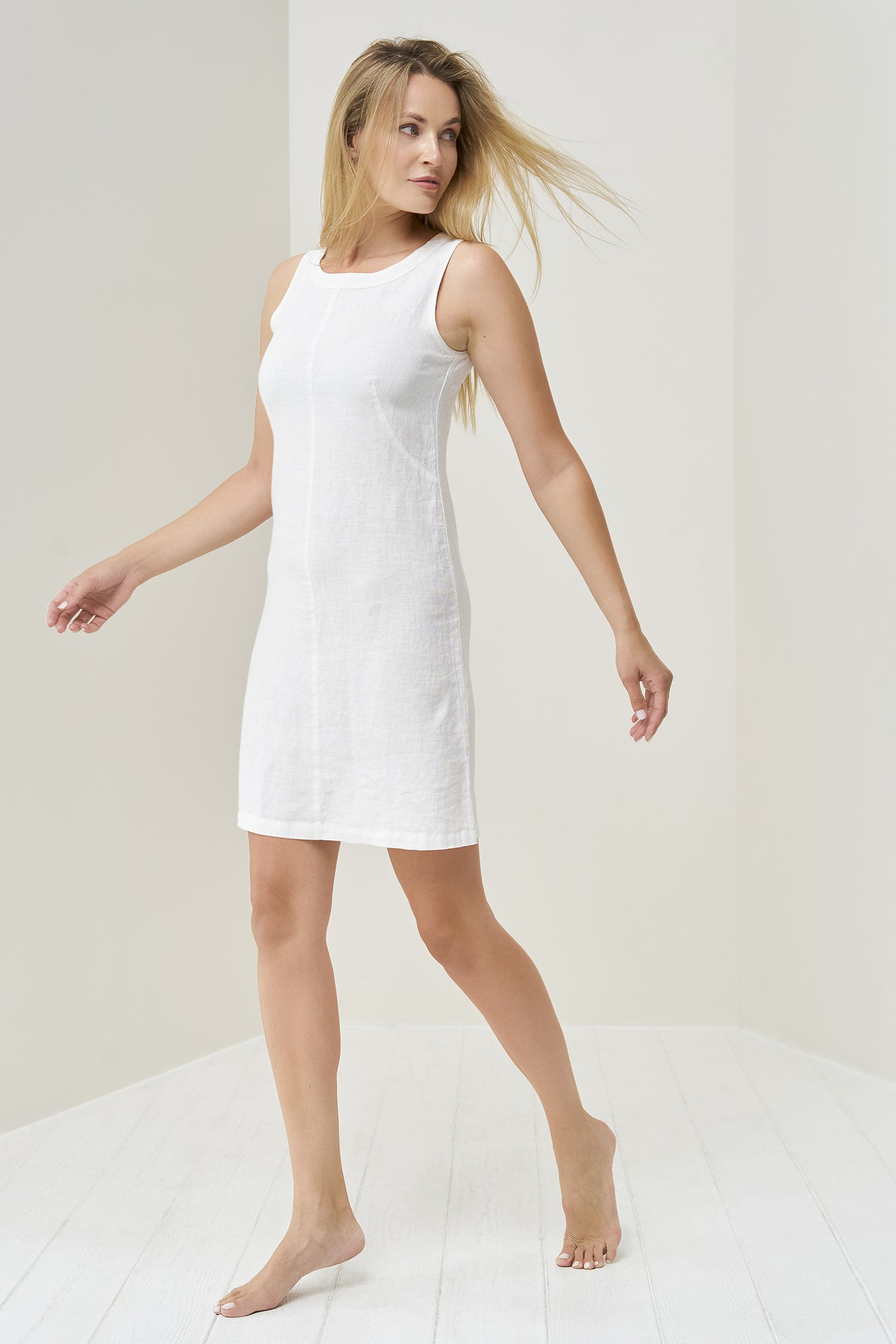 White linen dress Malin