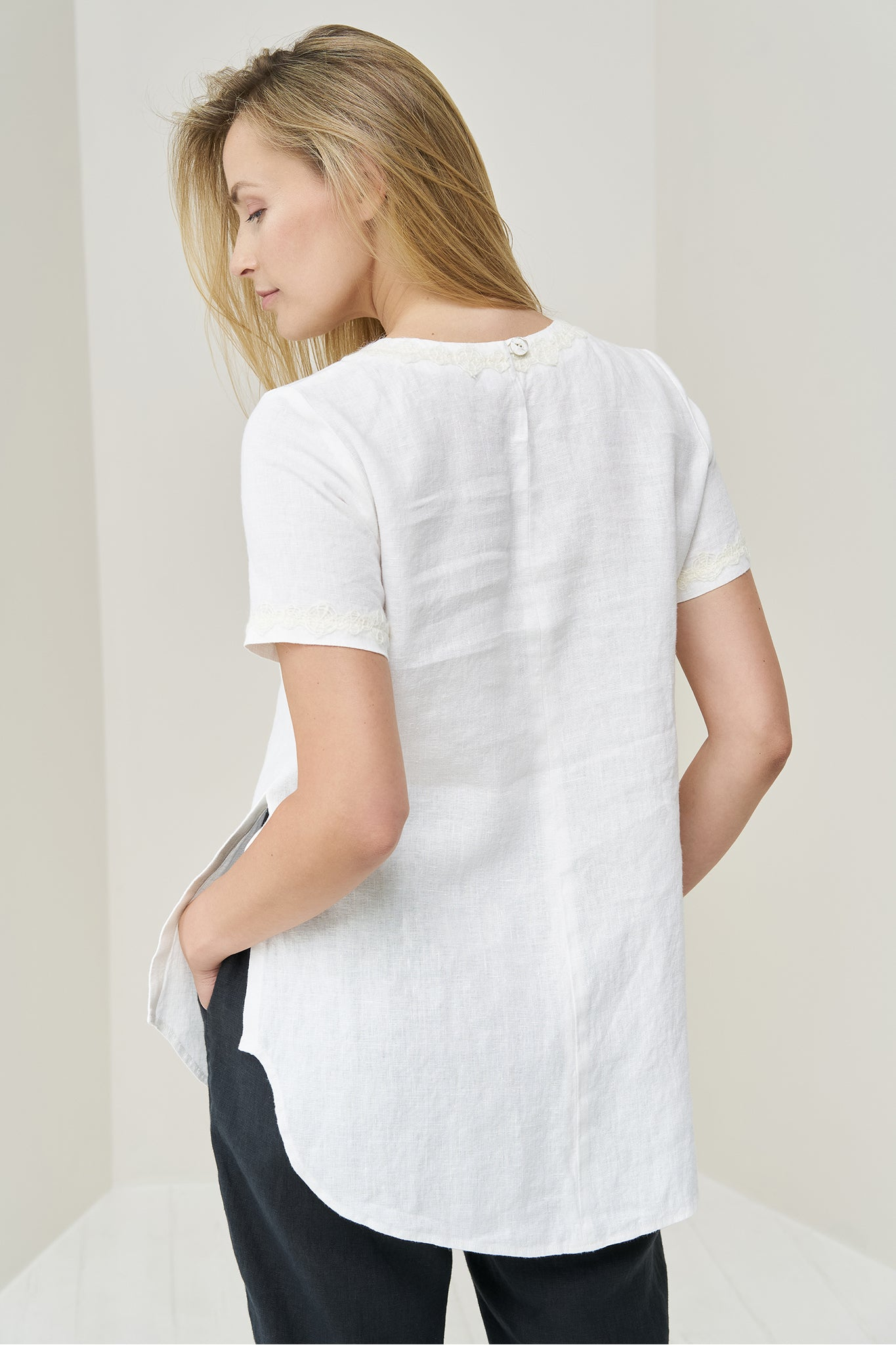 Linen top for women Gerdut