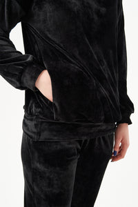 Velour fabric suit