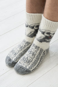 Dog wool socks