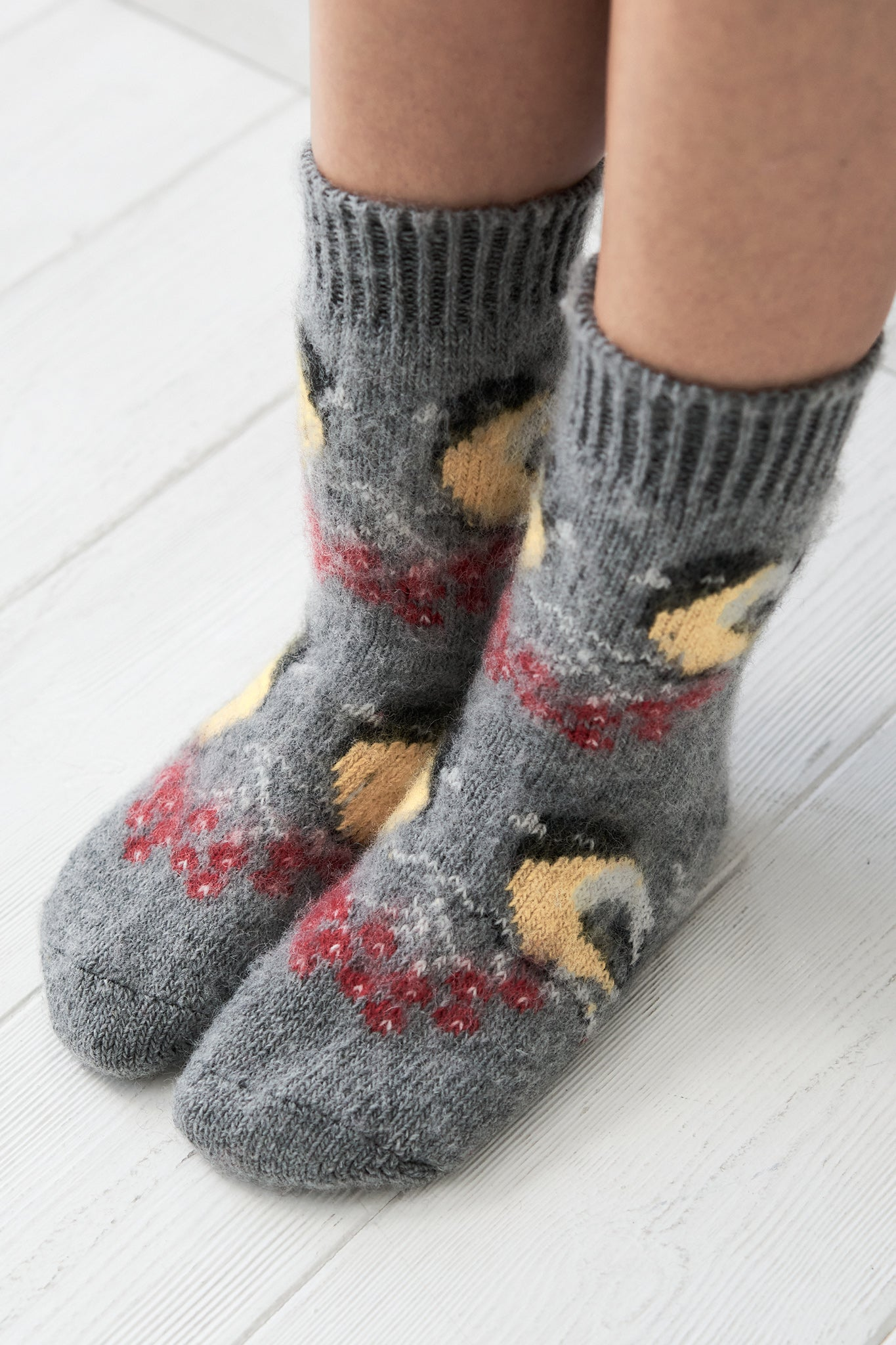 Birds wool socks