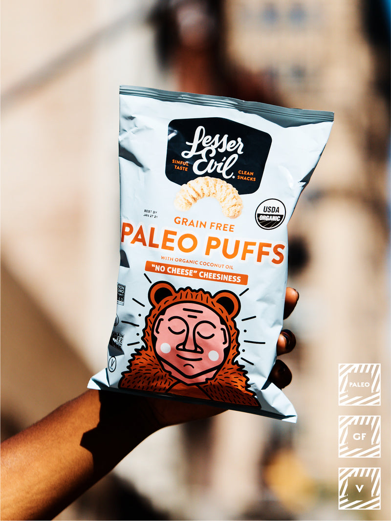 LESSER EVIL PALEO PUFFS No Cheese Cheesiness