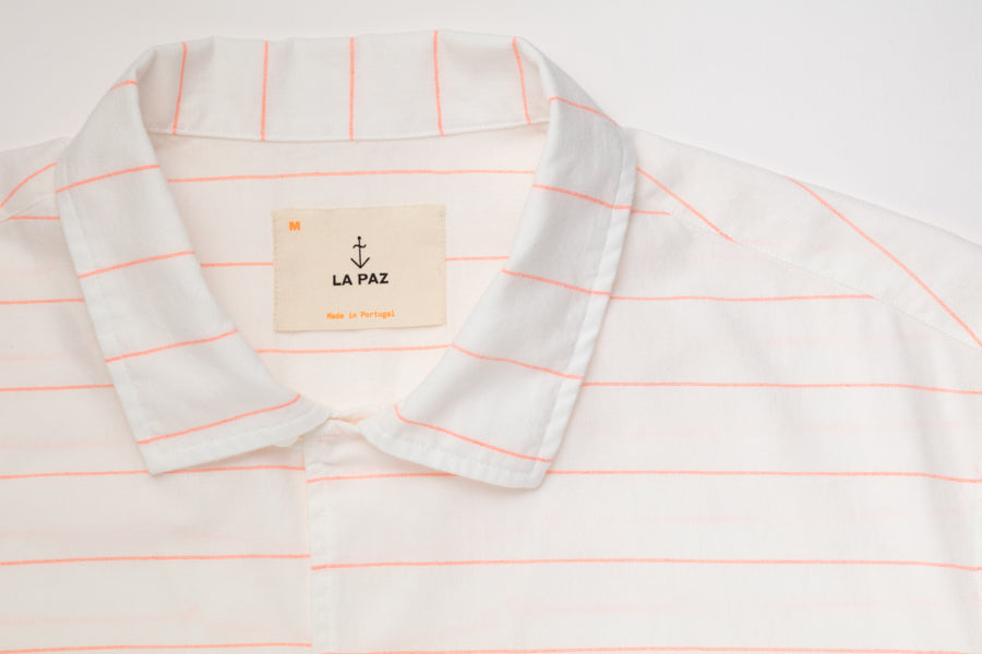 La Paz Shirt Silveira Orange Stripes