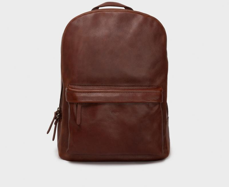 This is Park Backpack BP02 Dark Brown